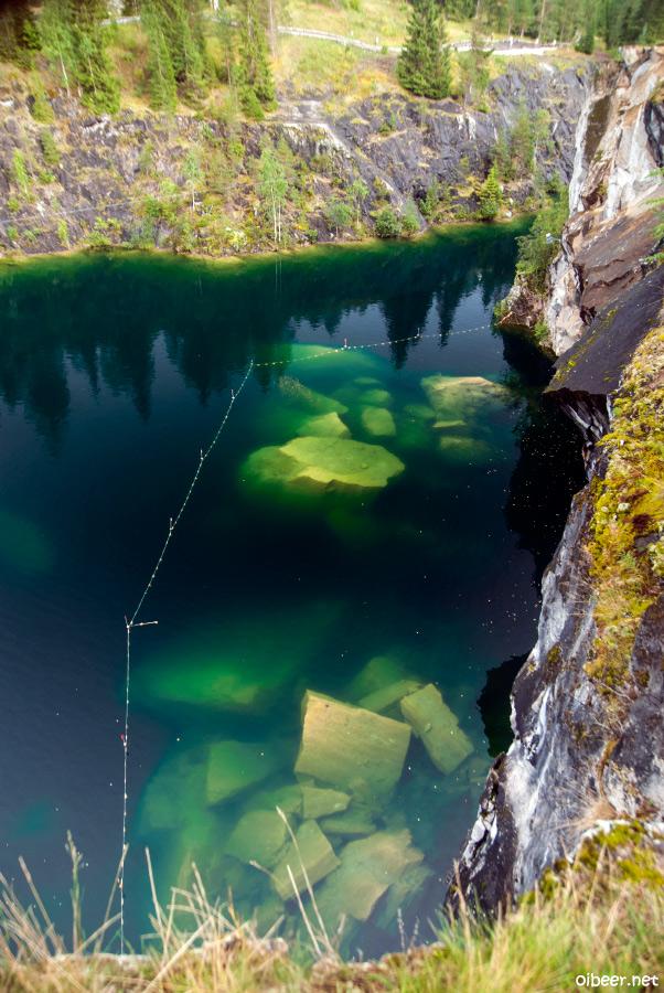 Горный парк мраморный карьер Рускеала
